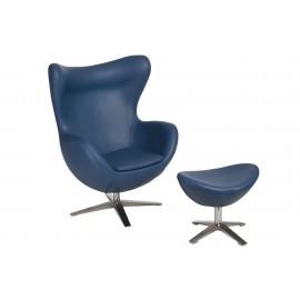 Fotel Jajo Soft z podn. sk. eko 518 niebieski ciemny