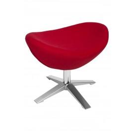 Fotel Jajo szeroki z podn. wełna JA-2712 czerwony