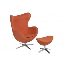 Fotel Jajo szeroki z podn. wełna JA-2717 pomarańczowy