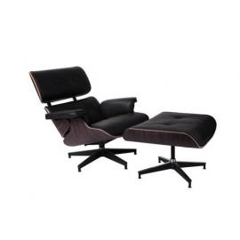 Fotel Vip z podnóżkiem czarny/ebony
