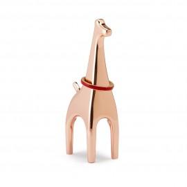 Wieszak na biżuterię Anigram Żyrafa miedziany
