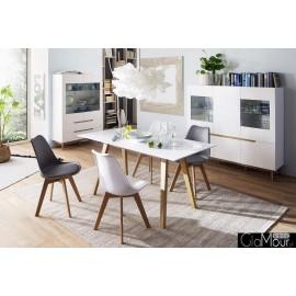 Stół CERVON lakier matowy + dąb