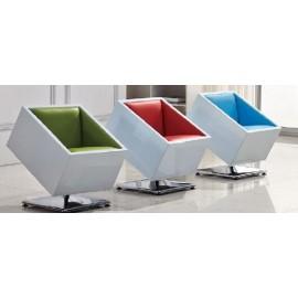 Fotel obrotowy Zox K-biały S-niebieskie
