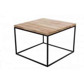 Stolik Cube 60x60cm czereśnia j. czarny