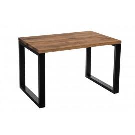 Stół Wooden 120x80 czarny profil 80x40mm blat olejowany dąb szczotkowany