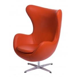 Fotel Jajo pomarańczowa skóra 67 outlet