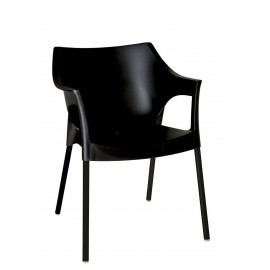 Krzesło Pole Deluxe czarny