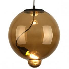 Lampa wisząca Modern Glass Bubble brąz