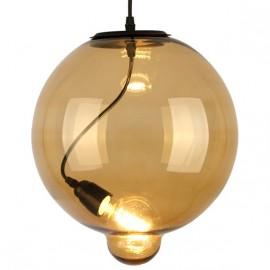 Lampa wisząca Modern Glass Buble koniak