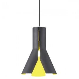 Lampa wisząca Origami Design 1 czerń/żół