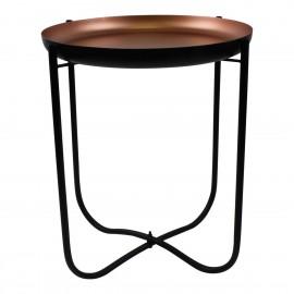 Stolik Copper czarny/miedźiany