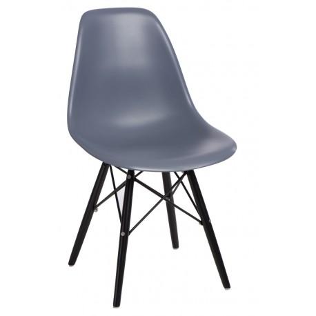 Krzesło P016W PP dark grey/black