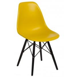 Krzesło P016W PP dark olive/black
