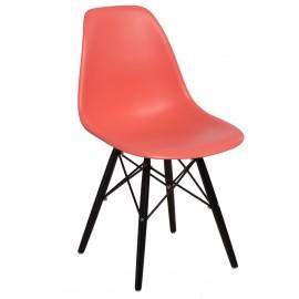 Krzesło P016W PP dark peach/black