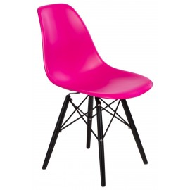 Krzesło P016W PP dark pink/black