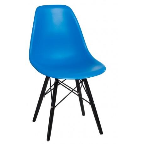 Krzesło P016W PP niebieskie/black