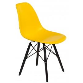 Krzesło P016W PP żółte/black