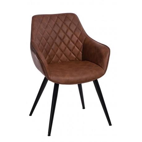 Krzesło Rox brązowe jasne