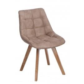 Krzesło Woody tapicerowane beżowe 1032