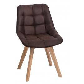 Krzesło Woody brązowe ciemne