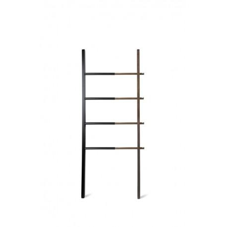 Wieszak drabina Hub Ladder czarny/orzech
