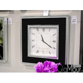 Elegancki zegar 16JS148 50x50cm czarny