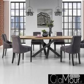 Elegancki stół SENSO z litego dębu wersja nierozkładana NOVA meble