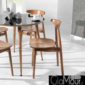 Piękne, drewniane krzesło ESSAI