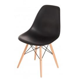 Krzesło P016W PP czarne drewniane nogi outlet