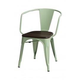 Krzesło Paris Arms Wood zielone sosna sz czotkowana