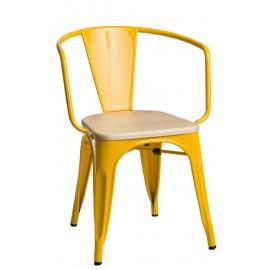 Krzesło Paris Arms Wood żółty jesion out let