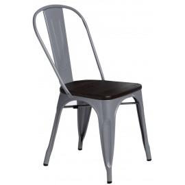 Krzesło Paris Wood szare sosna szczot.