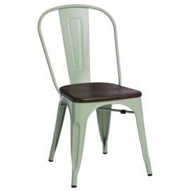 Krzesło Paris Wood zielone sosna szczot.