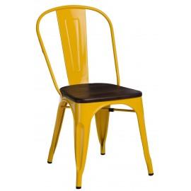 Krzesło Paris Wood żółte sosna szczot.