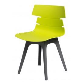 Krzesło Techno zielone podstawa szara