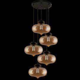 Lampa wisząca London Loft 1 CO bursztyn