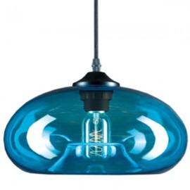 Lampa wisząca London Loft 3 niebieska