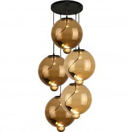 Lampa wisząca Modern Glass Bubble CO BC brąz/koniak