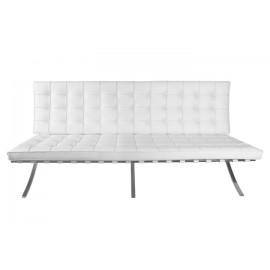 Sofa BA2 2 osobowa biała ekoskóra
