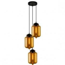 Lampa wisząca London Loft 2 CO bursztyn2