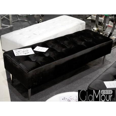 Pufa prostokątna w kolorze czarnym 140x50x42cm POUF005