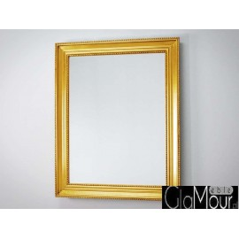 Eleganckie lustro w złotej ramie 80x100cm 9620E