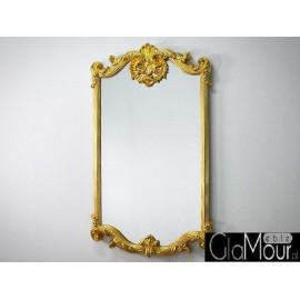 Eleganckie ozdobne lustro w kolorze złotym 80x140 PU-283