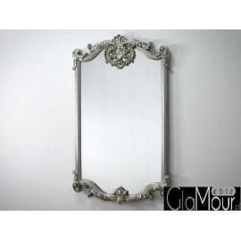 Eleganckie lustro w kolorze srebrnym 80x140 PU-283