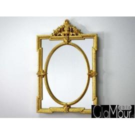 Stylowe lustro w złotej ramie 66x103cm PU-307