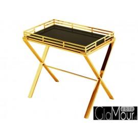 Stylowy stolik w kolorze złotym do salonu LW-3193