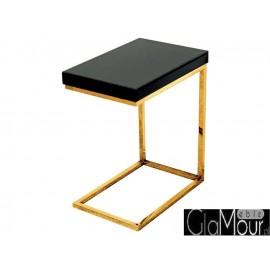 Stolik szklany kolor czarno-złoty LW-706