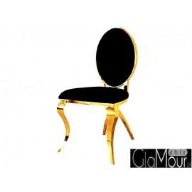 Eleganckie krzesło w kolorze złoto-czarnym B408