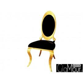 Eleganckie krzesło w kolorze złoto-czarnym B415-1