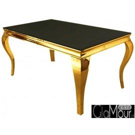 Elegancki stół złoto-czarny do jadalni TH306-1